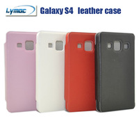 Freeshipping leather  Case for Galaxy S4 phone