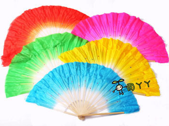 New arrive Dance fan dance props bamboo double faced silk fan yangko fan(China (Mainland))
