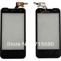 Black  Original lcd display Digitizer Touch Screen+frame FOR LG P990 P999 Optimus G2X 2X 4G free shipping