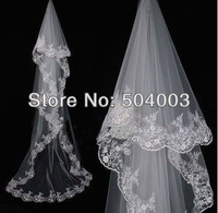 Free shipping Lacework 1T Cathedral Mantilla Wedding Bride Veil