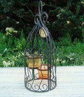 free shipping ,decorative bird cage wedding candle holder, candlesticks