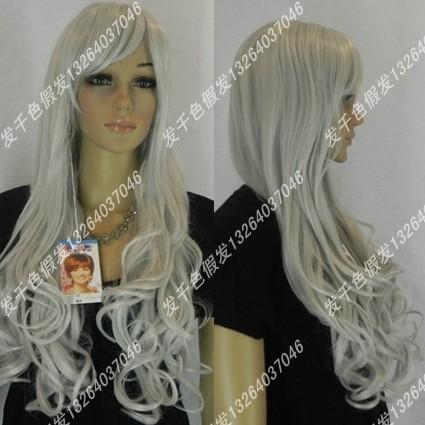 Rainbow cos wig elringklinger queen of silver grey cosplay wig(China (Mainland))