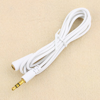 Free Shipping 20pcs Wholesales NEW 3.5mm Male to Female Stereo Audio Extension Cable White