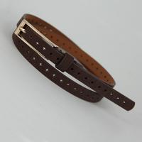 On Sale Cutout thin belt pigskin mixed belt 105cm waist strap belt FREE SHIPPING