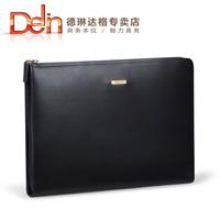Delin,Men's folder bag, A4 package, slim handbag, leather bag, IPAD bag, business bag,man wallets,men day clutch,free shipping