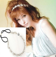 Rhinestone hair jewelry for wedding 2013 fashion bundling small flower hair bands 2pc lot bridal hair accessories free shipping