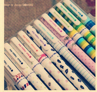 10 colour Cute&fashion Retail Colorful Stationery rollerball pen rollerball pen GEL INK PEN neutral pen(China (Mainland))