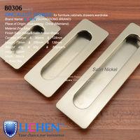 LICHEN  (8pieces/lot) 64/96/128mm Centres Furniture Hardware Zinc alloy Satin nickel Handle&Cabinet Handle&Drawer Handle
