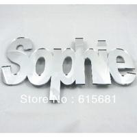 Waterproof circle round shape acrylic mirror /Bespoke Mirrored Names