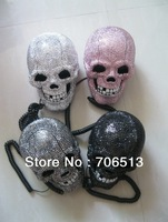 Free Shipping Fashion LED Skull crystal telephone for home or office decoration