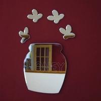 Waterproof funny acrylic mirror wall sticker/Cowboy Honey Pot & Four Bees Mirrors