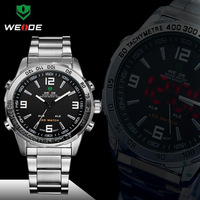 WEIDE Mens  new Brand  Black Dial Waterproof Alarm  Sport Quartz sport Watch WH-1009-1