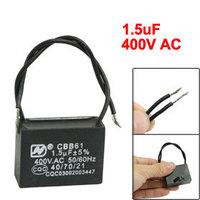 3 Pcs CBB61 1.5uF AC 400V Rectangular Shape Capacitor for Motor Running Free shipping