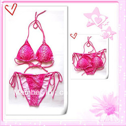 [Miss T]Foreign Trade pink leopard sexy bikini hot spring women swimsuit-free shipping(China (Mainland))