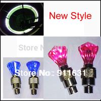 New Style 5.8*2.2 CM 4pcs/lot car Wheel Ligth Bike Led  Auto Lamp Gem Lights Bule/Pink/Green/White color