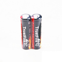 Free shipping + TrustFire Protected 18650 3.7V True 2400mAh Rechargeable High Quality Lithium Batteries (1 pair)