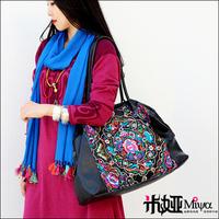 2013 New Arrival Leather Brand Handbag Vintage Embroidery Shoulder Bag Oversized Travel Bag National Trend Fashion Woman's Bags