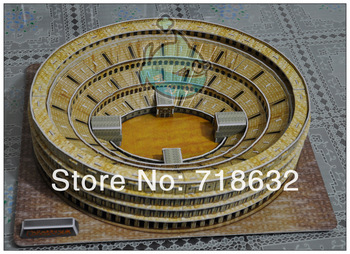 Colosseum the Latest fashion 3D puzzle fisher price toy for kids Educational Toys 84PCS  free shipping