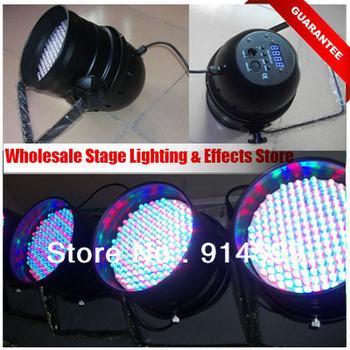 Wholesale Digital DIsplay DMX 512 177pcs x 10mm RGB Led Par 64 Can Lightings, 3Pcs/Lot