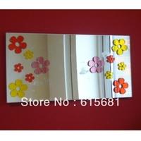 Freeshipping Waterproof acrylic Mirrors on Mirror Art/small butterflys