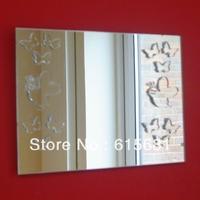 Freeshipping Waterproof acrylic Butterfly Mirrors on Mirror Art / Rectangle Mirror