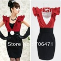 S-XL free shipping manufacturers supply Autumn winter women's v-neck woolen vest dress (MOQ1pc)