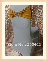 free shipping gold  color  heart shape buckle spandex band for weddings