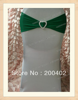 free shipping hunter heart shape bucke spandex band for weddings
