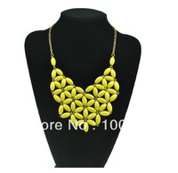 Free shipping Fashion  Statement Necklace mixed 5 colors 8pcs/lot
