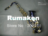 F Ship Bule Tenor Saxophone High Quality Woodwind With se