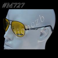 Magnesium aluminum alloy Spring Hinges Polarized UV Sunglasses Night Vision With Case M727  7304