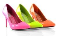neon shoes red bottom high heels shoes woman women pumps neon yellow pumps Green Pink Yellow Color EU 34-39 free shipping prom