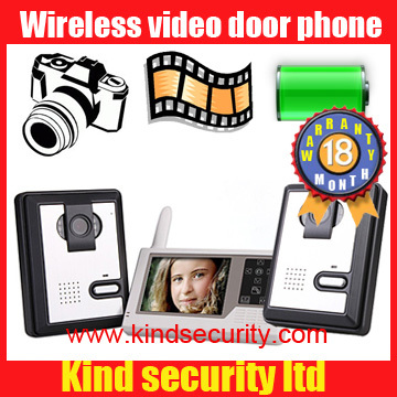 Lowest price for 2.4 GHz Wireless Video Door Phone with CMOS Sensor and Portable Wireless Video Monitor 3.5 inch Digital Display(China (Mainland))