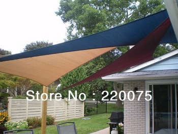 summer hot sale! triangle shape 4.2mx4.2mx6.0m 100% HDPE for car parking sun shade net