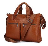 JMD Vintage Genuine real leather Men buiness handbag laptop briefcase shoulder bag / man messenger bag JMD7152B-340