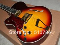 Custom Shop Left Hand Vintage Sunburst L-5 Classic Jazz Guitar Wholesale Free Shipping