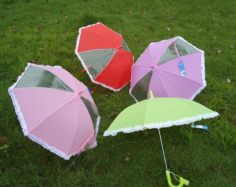 Free Shipping Wholesale Laciness shank child umbrella transparent umbrella baby umbrella(China (Mainland))