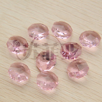 Crystal bead curtain beads curtain bead crystal lamp diy accessories 14mm pink octagon beads