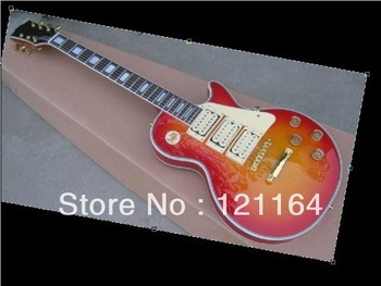 Best New Arrival China Guitar mahogany body abalone surround woodn pickguard