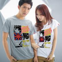 shirt 2013 new British fashion style casual short-sleeve T-shirt 100% Cotton