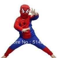 2013 FREE SHIPPING LOW PRICE baby boy spider man costume spiderman suit spider-man costume child spider man 1SET/LOT -38