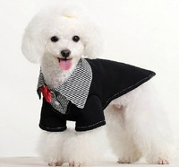 Lovey Fashion Pet Dog Puppy Dog Clothes Bowtie BLACK Dress Costume Apparel Clothing For Small Dog Free Shipping