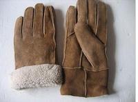 Sheepskin gloves fur one piece gloves male gloves leather one piece gloves genuine leather real fur