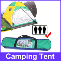Quick Setting Dome Style Three-Person Camping Tent Pack with Carrying Bag for Outdoor Camping