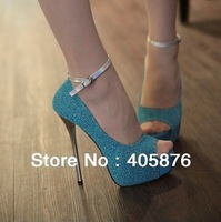 Free Shipping Fashion Buckle Peep Toe Sandals Sexy Platform High Heels Shoes EUR Size(35-39)Top Store