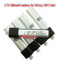 5pcs 3.7V 200mAh 20C Lipo Battery FOR WLTOYS 4CH RC V911 HELICOPTER V911-19 (11403) Free shipping