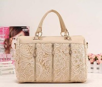 Free Shipping 2014 Stylish Lady's MMLOVE PU handbags women bags Lace Bag wholesale bags