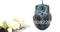 6 Buttons 3000DPI  Black AULA Optical USB Game Gaming Mouse for PC  Gamer