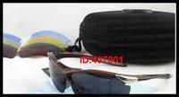 Designer Fashion Sports Sunglasses Men's Women's Red White Glasses Lot Lenses Changeable Lens Free Shipping UV Protection