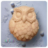 Best Price owl shape Handmade soap mould silicone soap mold form cake mould